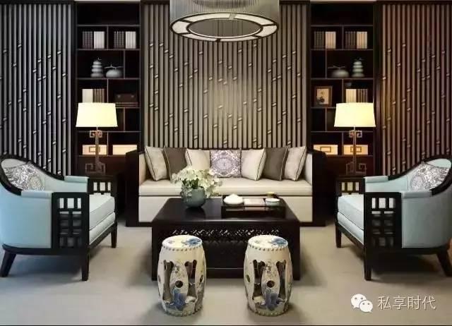 惊艳背景墙的新中式设计!